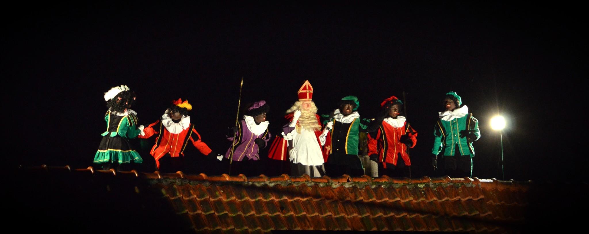 Sinterklaas op het dak zaterdag 25 november a.s.
